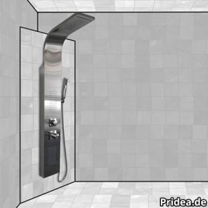 duschpaneel eckmontage leicht gemacht duschpaneel. Black Bedroom Furniture Sets. Home Design Ideas