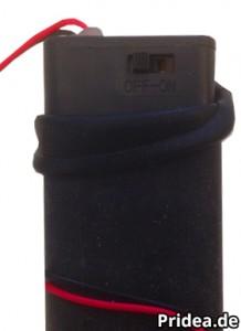 Duschpaneel LED Batteriefach