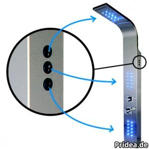 Duschpaneel LED Schalter