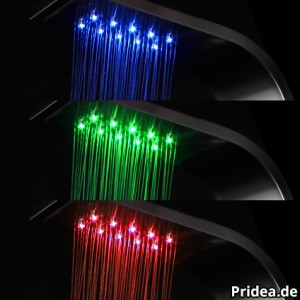 Duschpaneel RGB LED Beleuchtung